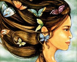 mujer-mariposas
